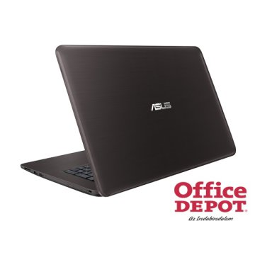 "ASUS X756UX-T4110D 17,3"" FHD/Intel Core i5-6200U/8GB/1TB/GeForce GTX 950M 4GB/DVD író/sötétbarna notebook"
