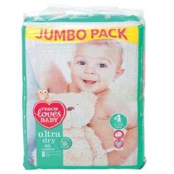 Tesco Loves Baby Ultra Dry jumbo pack pelenka