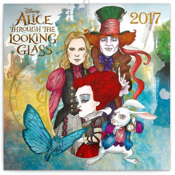 Falinaptár Alice through the looking glass 6096