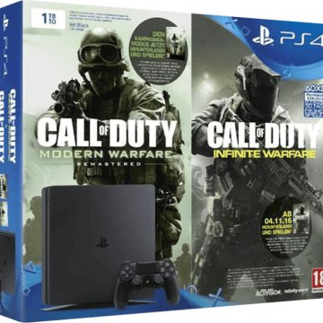 PlayStation 4 1TB + Call Of Duty: Modern Warfare Remastered és Call Of Duty: Infinite Warfare