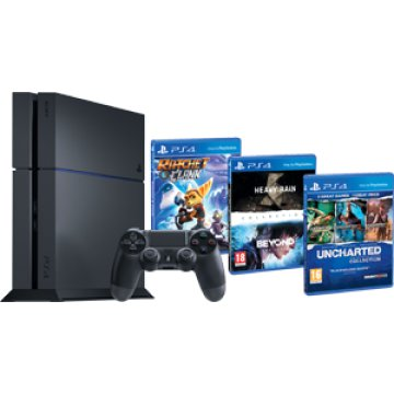 PS4 500GB játékkonzol + Uncharted 1, 2, 3, Beyond, Heavy Rain és Ratchet and Clank