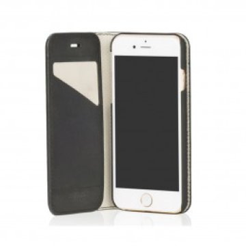 Knomo - Premium Leather Folio iPhone 6 tok - Fekete