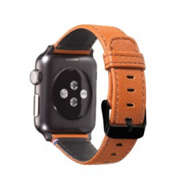 Decoded - Apple Watch 42mm bőrszíj - Barna