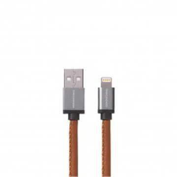Decode - Leather Lightning USB kábel (1,2m) - Barna