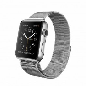 Apple Watch - 42 mm-es, rozsdamentes acél tok milánói szíjjal