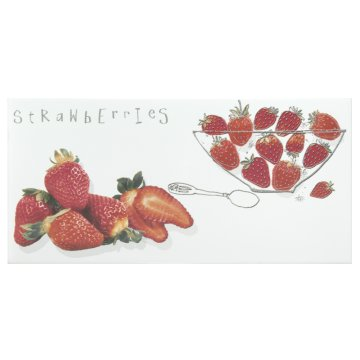 CARNEVAL DEKORCSEMPE 25X50,3CM STRAWBERRIES