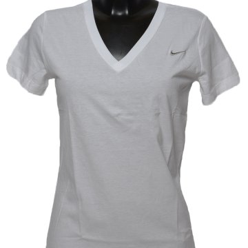 SS SOLID SWOOSH V NECK TEE