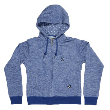 BASIC SWEAT HOODY BLUE MARL