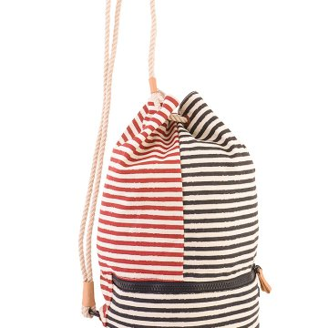 BEACH STRIPES DRAWSTRING BAG