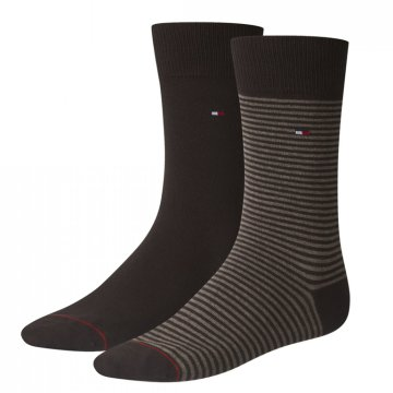 TH MEN SMALL STRIPE SOCK 2P