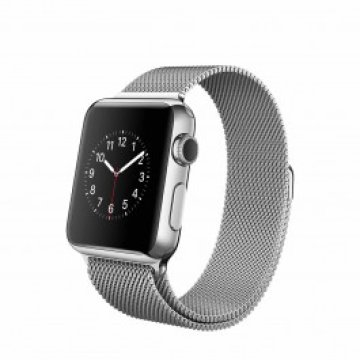 Apple Watch - 38 mm-es, rozsdamentes acél tok milánói szíjjal