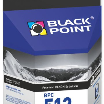 Black Point patron BPC512 (Canon PG-512) fekete