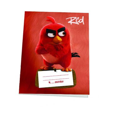 Iskolai füzet, kockás [27-32], A5, 32 lap, ANGRY BIRDS MOVIE - Red