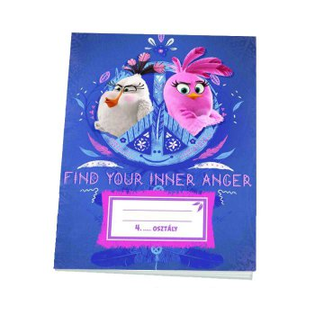 Iskolai füzet, 4.oszt. vonalas [21-32], A5, 32 lap, ANGRY BIRDS MOVIE - Find your inner anger