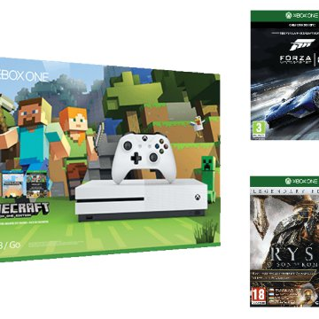 Xbox One S 500GB + Minecraft,  Forza 6, Ryse: Legendary Edition