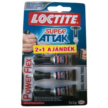 LOCTITE SUPER ATTAK POWER FLEX MINI TRIÓ GÉL 3X1G PILLANATRAGASZTÓ
