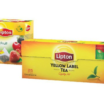 Lipton Piramis tea vagy Lipton Earl Grey, Yellow Label fekete tea