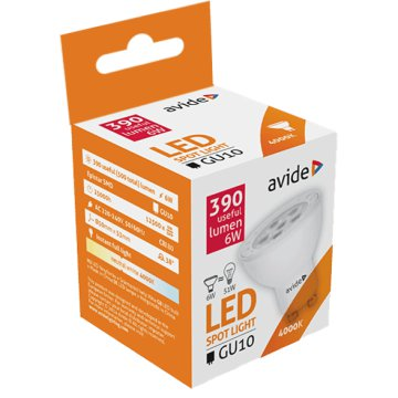 ABGU10NW-6W-NBA LED GU10 6W NW NBA
