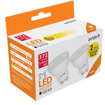 ABGU10NW-6W-APTP LED GU10 Twin Pack 6W NW