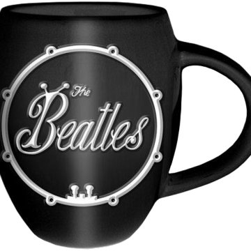 The Beatles - White On Black Bug Logo (Pohár/Bögre)