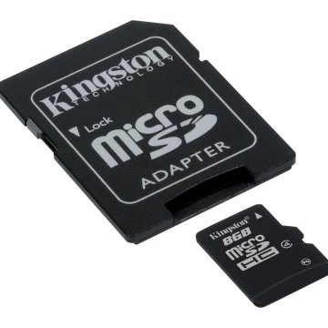 Kingston 8GB microSD Class 4 memóriakártya+adapter