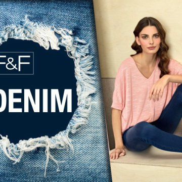 F&F DENIM Jeggings szűk farmernadrág