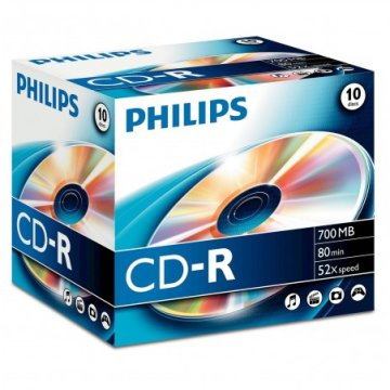 Philips CD-R80 52X normál tok