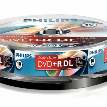 Philips DVD+R85DLCB*10cake-box Dual Layer 8x