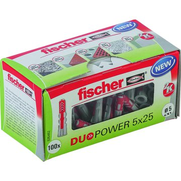 "DŰBEL 5X25MM 100 DB ""DUOPOWER"" FISCHER"