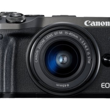 EOS M6 + EF-M 15-45 mm fekete Kit
