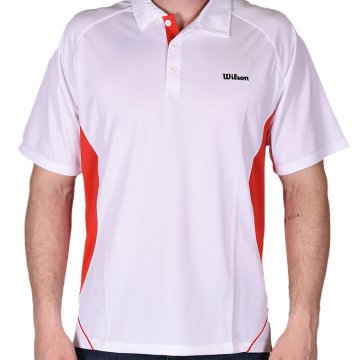 Performance Polo wht/red 10
