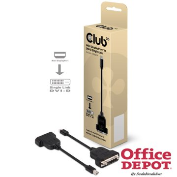 CLUB3D Mini Displayport - DVI-D Single-Link active adapter