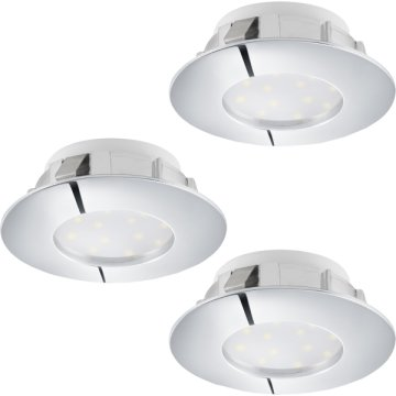 PINEDA LED BEÉPÍTH. 3X6W 3X500LM IP44 D:7,8CM KEREK FIX KRÓM