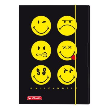 Herlitz gumis mappa A4 Smiley Black