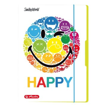 Herlitz gumis mappa A4 Smiley Rainbow