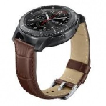 ET-YSA76MDEGWW Alligator Grain Leather Band - Brown