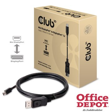 CLUB3D Mini Displayport - Displayport 2m kábel