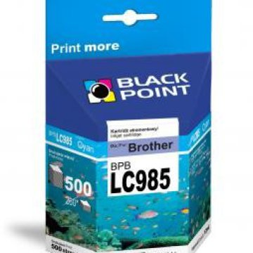 Black Point patron BPBLC985XLC (Brother LC985C) kék