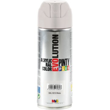 PINTY PLUS EVOLUTION AKRIL SPRAY 200ML RAL 9010 MATT FEHÉR