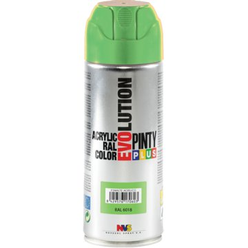 PINTY PLUS EVOLUTION AKRIL SPRAY 200ML RAL 6018 SÁRGÁSZÖLD