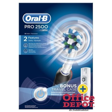Oral-B PRO 2500 Cross Action elektromos fogkefe + úti tok