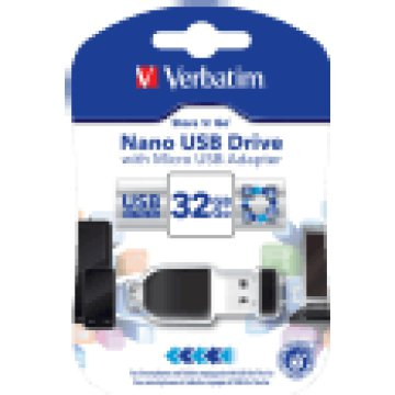 Nano 32 GB USB 2.0 pendrive + microUSB adapter
