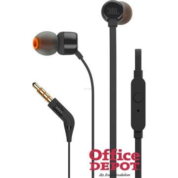 JBL T110BLK fekete fülhallgató headset - ár a71fc89cda