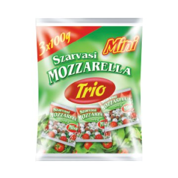 Trio Mini Mozzarella sajt 1 830 Ft/kg, kétféle