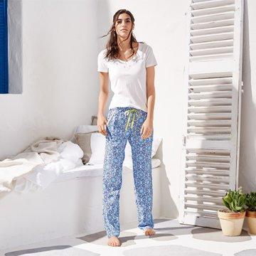 Tchibo Női pizsama hosszú nadrággal - ár 6243ed6afa