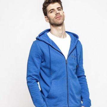 Kapucnis felső kollekció Calvin Klein Jeans. Sima szövetből készült  cipzáras modell. - Egyszerű stílus. - Kapucnis modell. - Cipzáras zárás. c3f1326e4c
