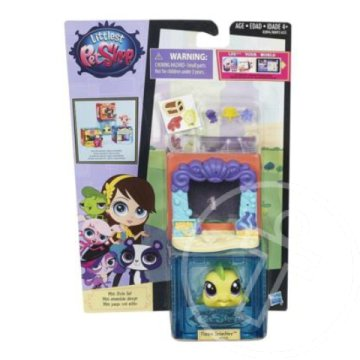 Littlest Pet Shop: Mini Style szett Flippa Splashly halacskával - Hasbro