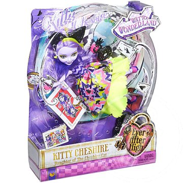 Ever After High: Elvarázsolt út Csodaországba Kitty Cheshire baba - Mattel