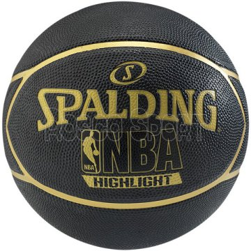 Spalding NBA Highlight Black-Gold kosárlabda