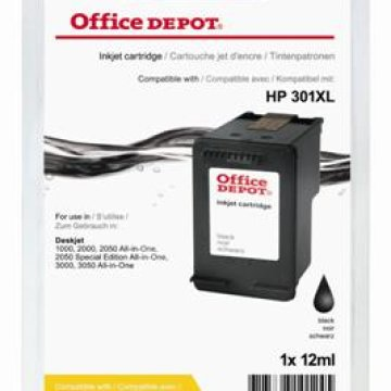 Office Depot HP CH563EE/301XL kompatibilis patron, fekete